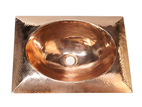 Copper Hammered Sink Cushion Design
