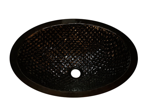 Copper Oval Sink Squares Design