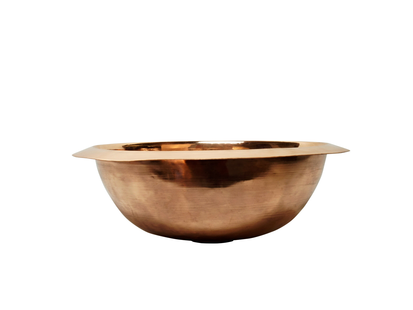 Copper Smooth Round Bath Sink High Bright