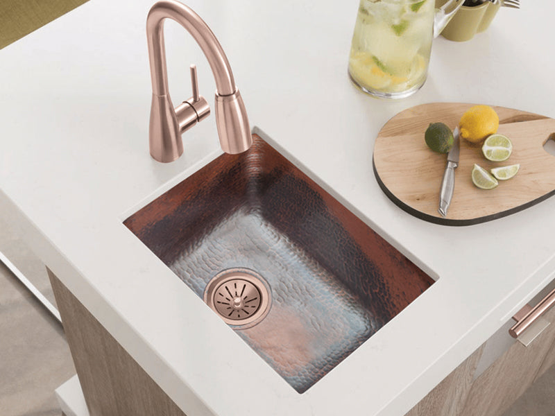 010 Copper Rectangle Bar Sink 17 X 12 X 7 Thecopperdesign