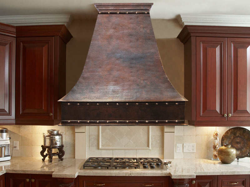 001 Copper Range Hood Wall Mount Rivet 48 X 24 X 48