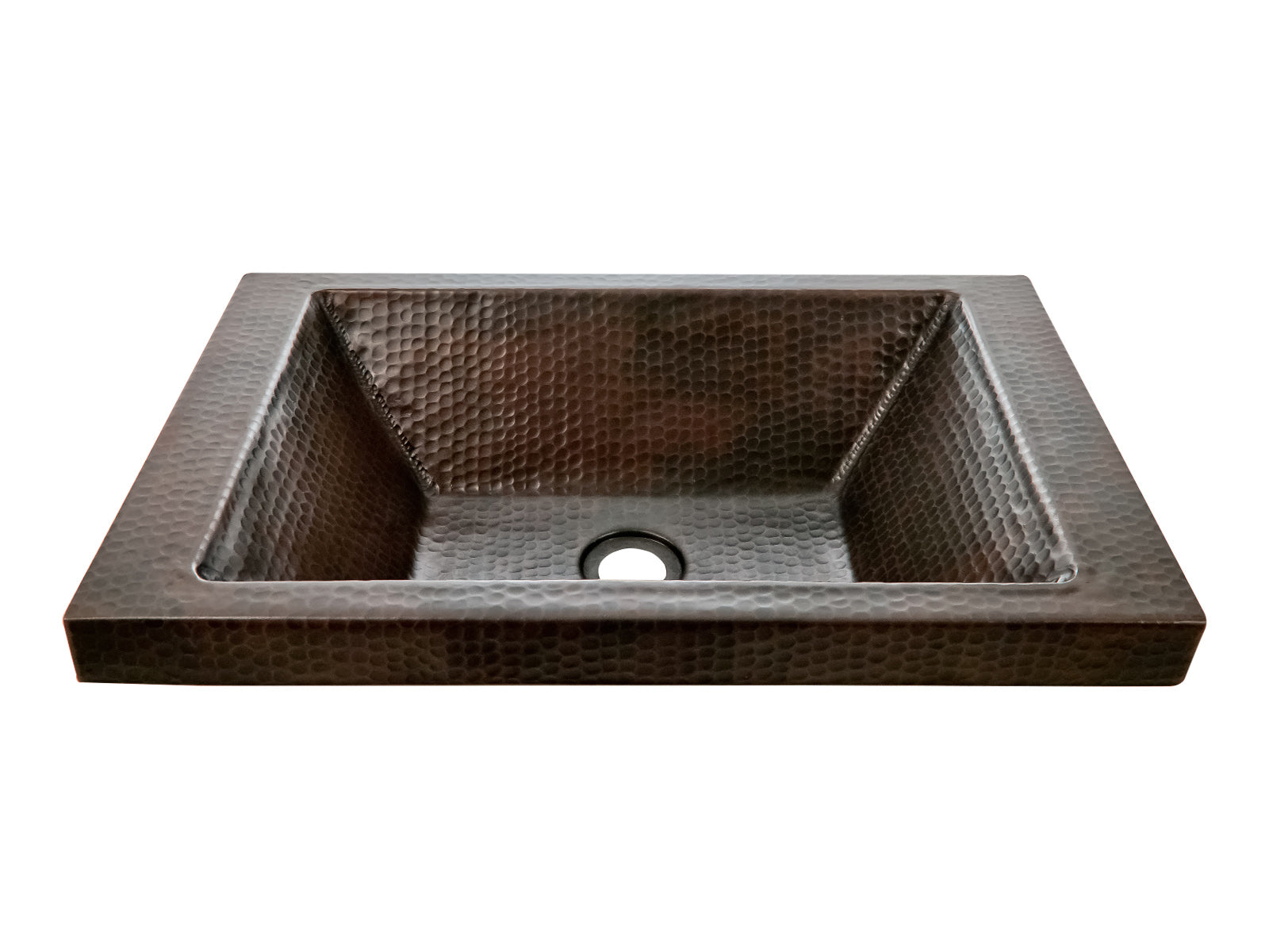 Copper Special Sink Rectangular High Tab