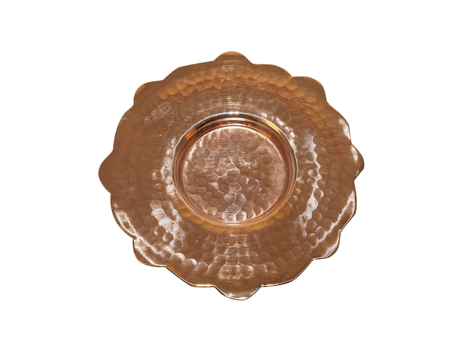 Copper English Dessert Plate 6 pieces