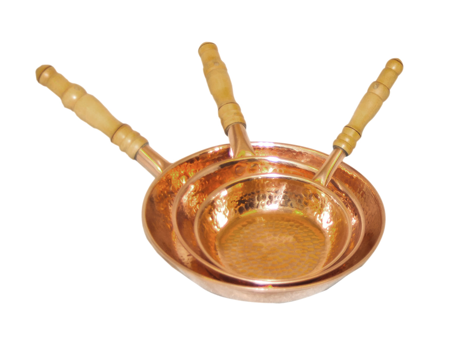 Copper Fry Pan Set