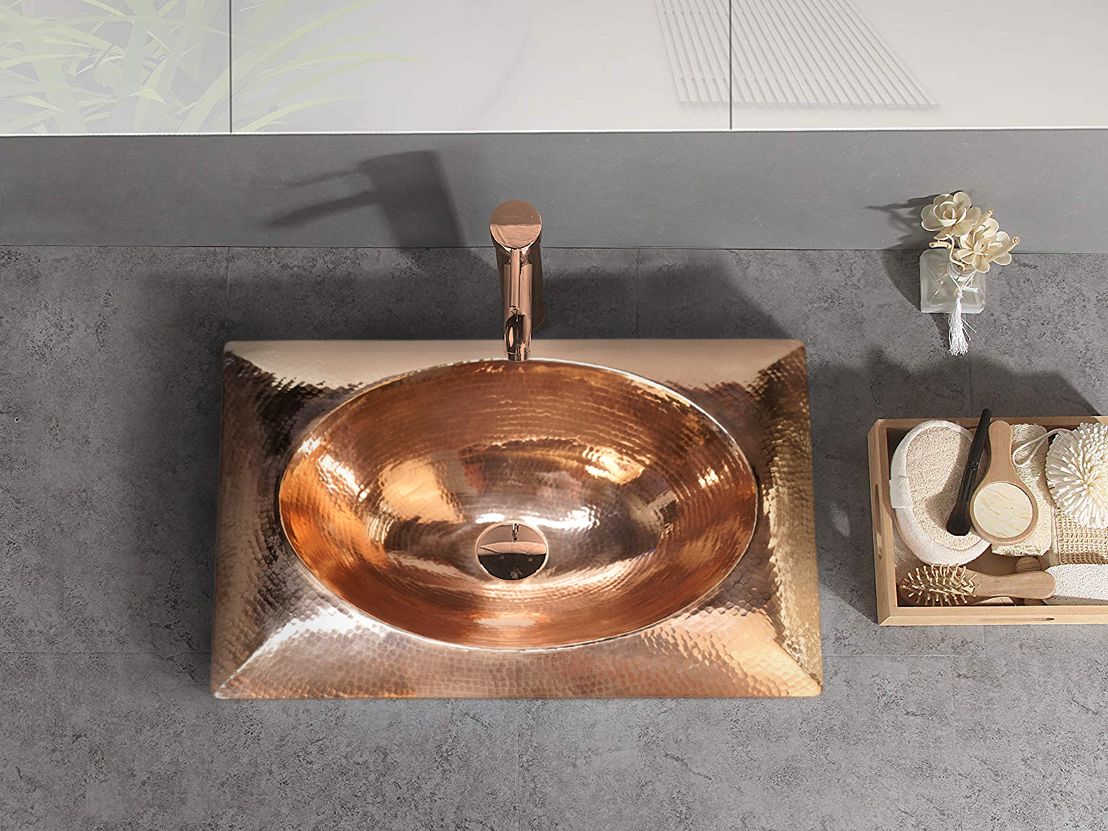 Copper Special Sink Cushion Design