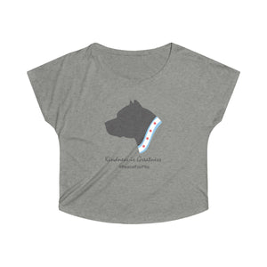 """Peace for Pits"" - Pitbull Women's Dolman Tshirt"