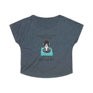 """Can't You See That I'm Lonely?"" Pitbull / American Bully Women's Dolman Tshirt is available at Lotso Bully Breeds one stop pitbull shop.  Click here to view unique T shirts, apparel, accessories, bags, gifts, and more!"