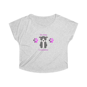 """Itty Bitty Pittie Committee"" Pitbull / American Bully Women's Dolman Tshirt"