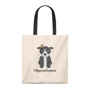 """Hippopitamus"" Pitbull / American Bully Vintage Style Tote Bag is available at Lotso Bully Breeds one stop pitbull shop.  Click here to view unique T shirts, apparel, accessories, bags, gifts, and more!"