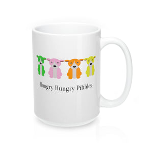 """Hungry Hungry Pibbles"" American Bully / Pitbull 15oz Coffee Mug"