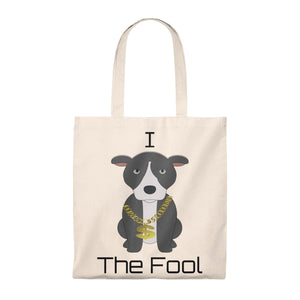 """I Pittie the Fool"" Pitbull/American Bully Dog Vintage Style Cotton Tote Bag is available at Lotso Bully Breeds one stop pitbull shop.  Click here to view unique T shirts, apparel, accessories, bags, gifts, and more!"