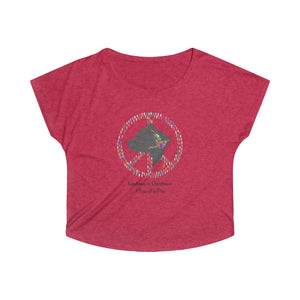 """Peace for Pits"" Colorful Women's Dolman Tshirt"