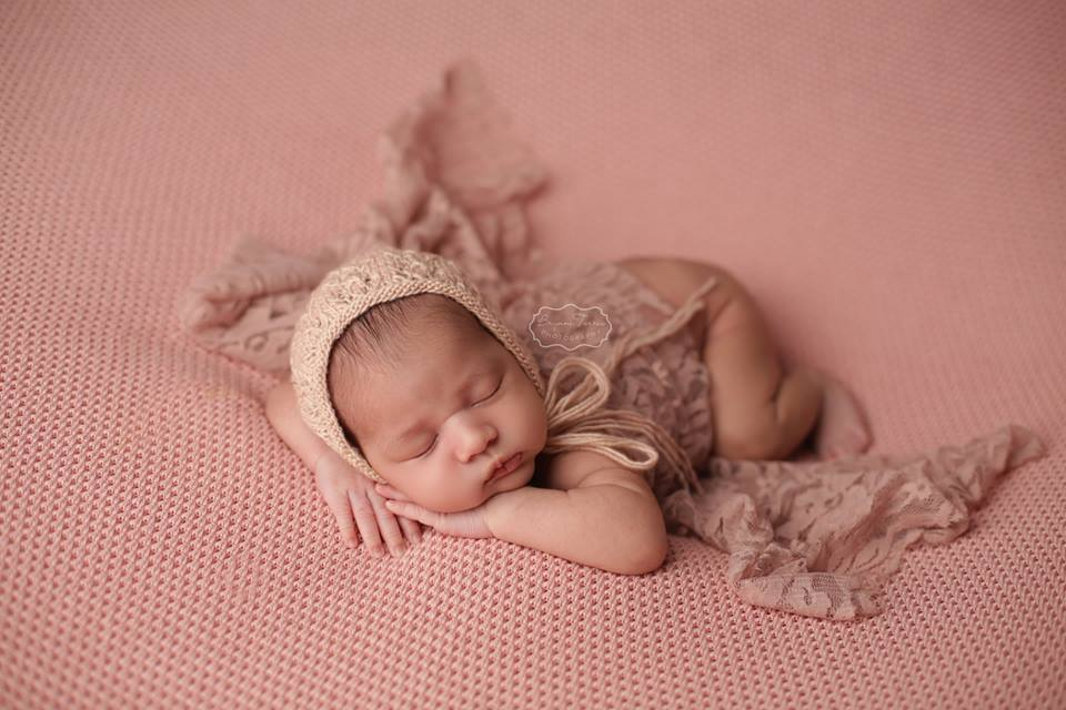 Rosalie Newborn Knit Bonnet