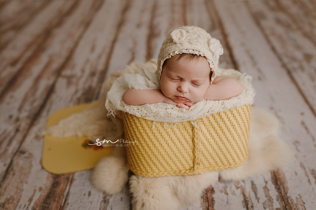 Newborn Fluffy Bear Bonnet Set