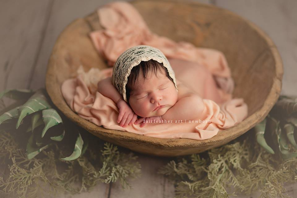 Just Peachy Newborn Bonnet