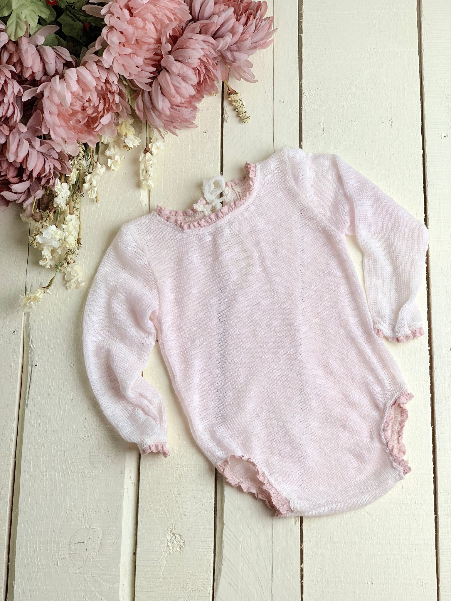 Barely Pink Sweater Sitter Romper ~ Sale