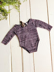 Newborn Brown Striped Romper