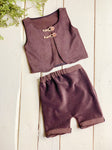 Brown Corduroy Shortie Set ~ Sale