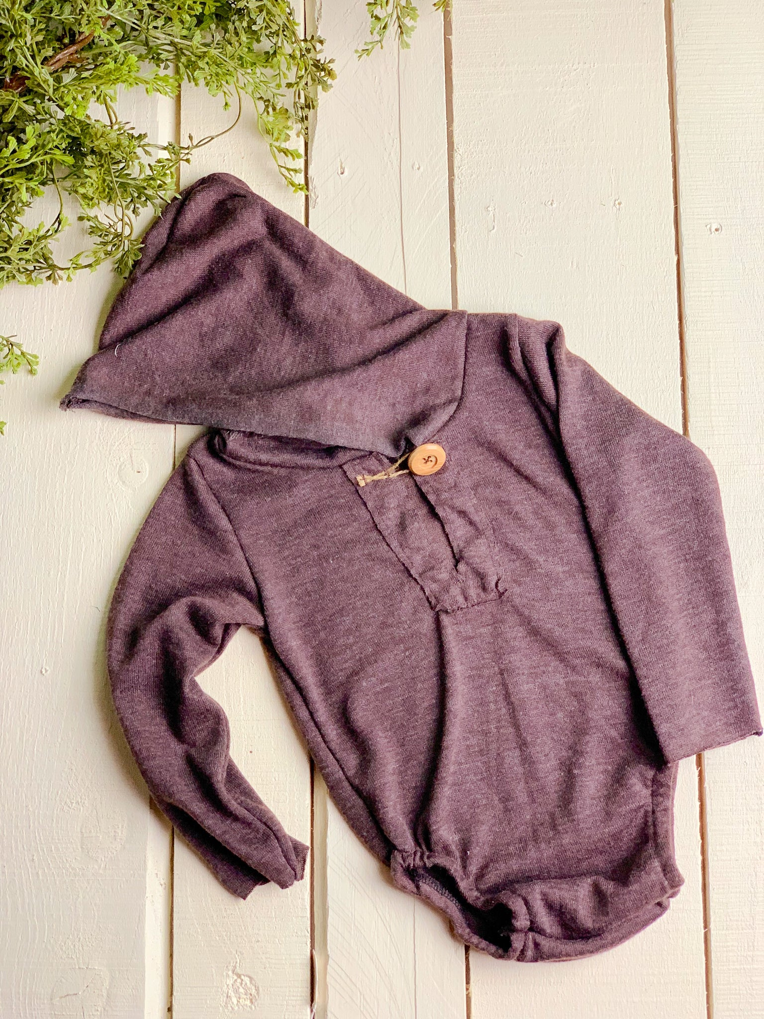 Chocolate Sitter Hooded Romper  ~ Sale