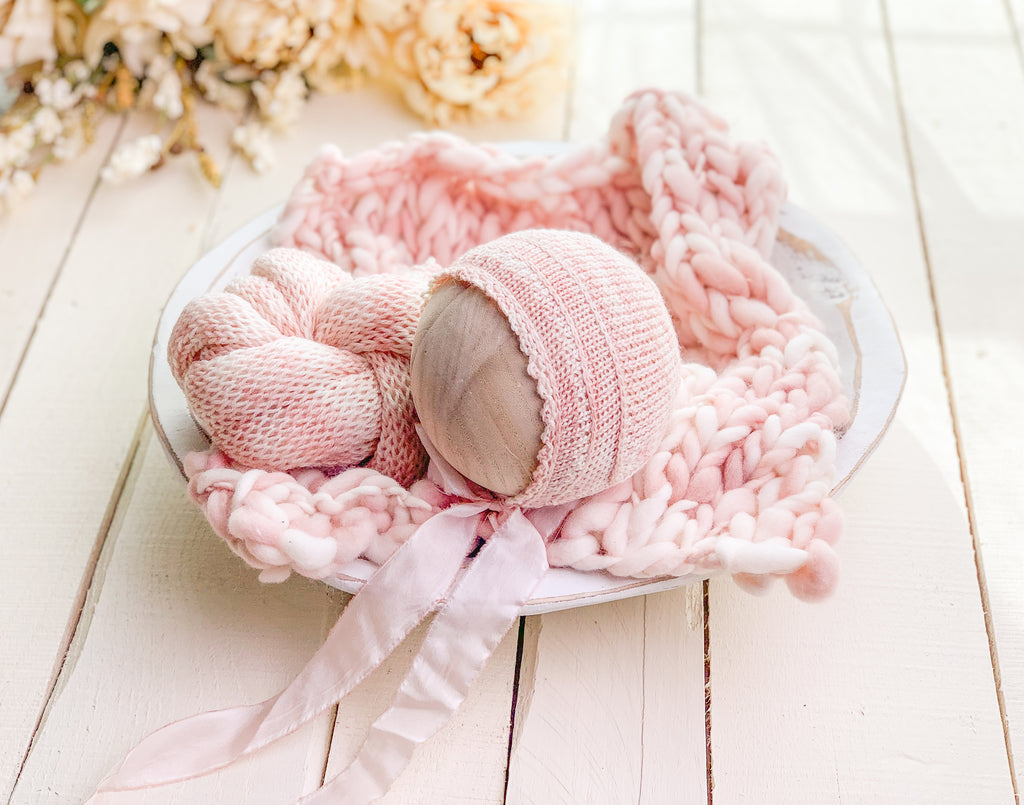 Blush Pink Knit Set