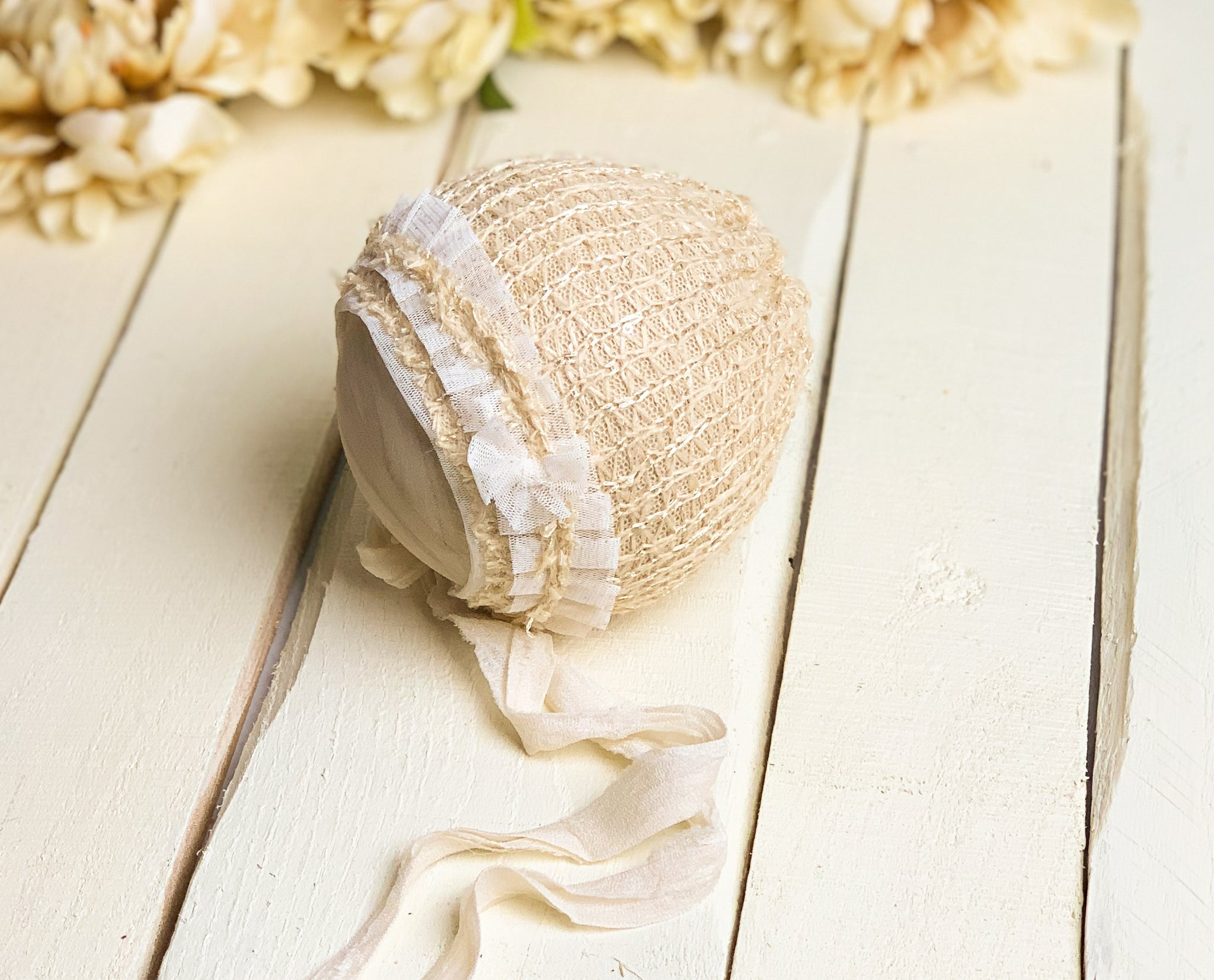 Golden Newborn Bonnet  ~ Sale