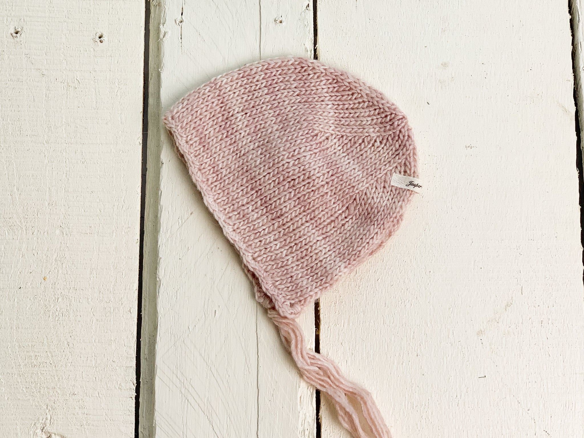 Pink Knit Newborn Bonnet