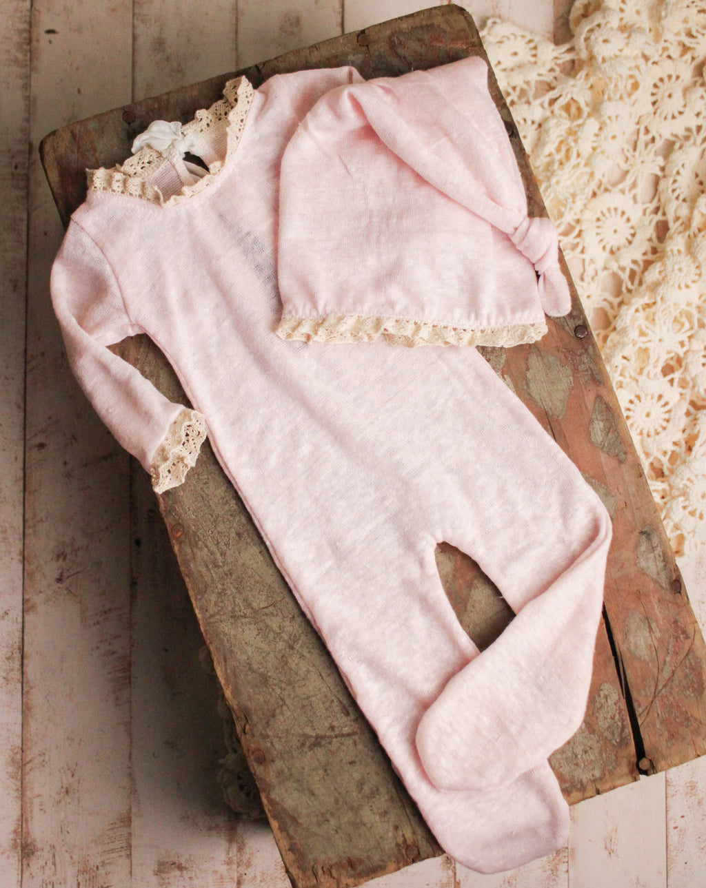 Pink Footed Jammies Set