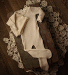 Organic Hemp & Cotton Newborn Footed Jammies Set