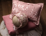 Pink Floral Newborn Pillow Prop Set