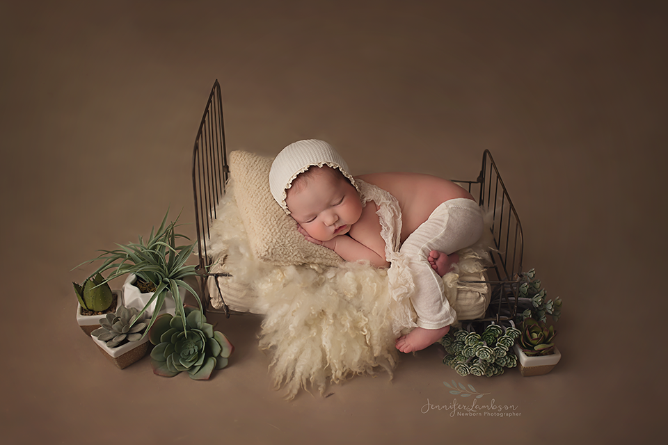 Cream Ribbed Newborn Bonnet
