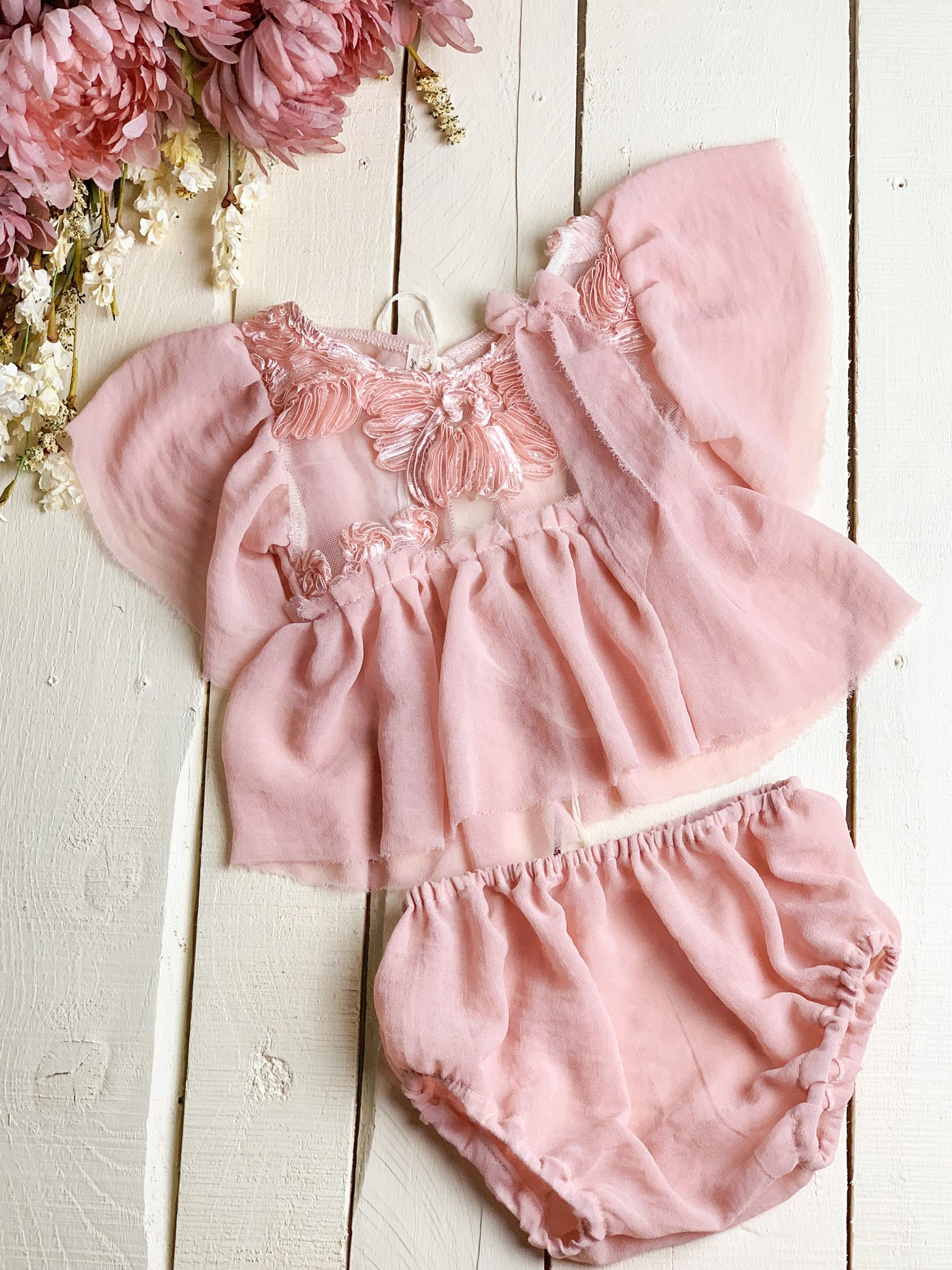 Dusty Pink Floral Sitter Set