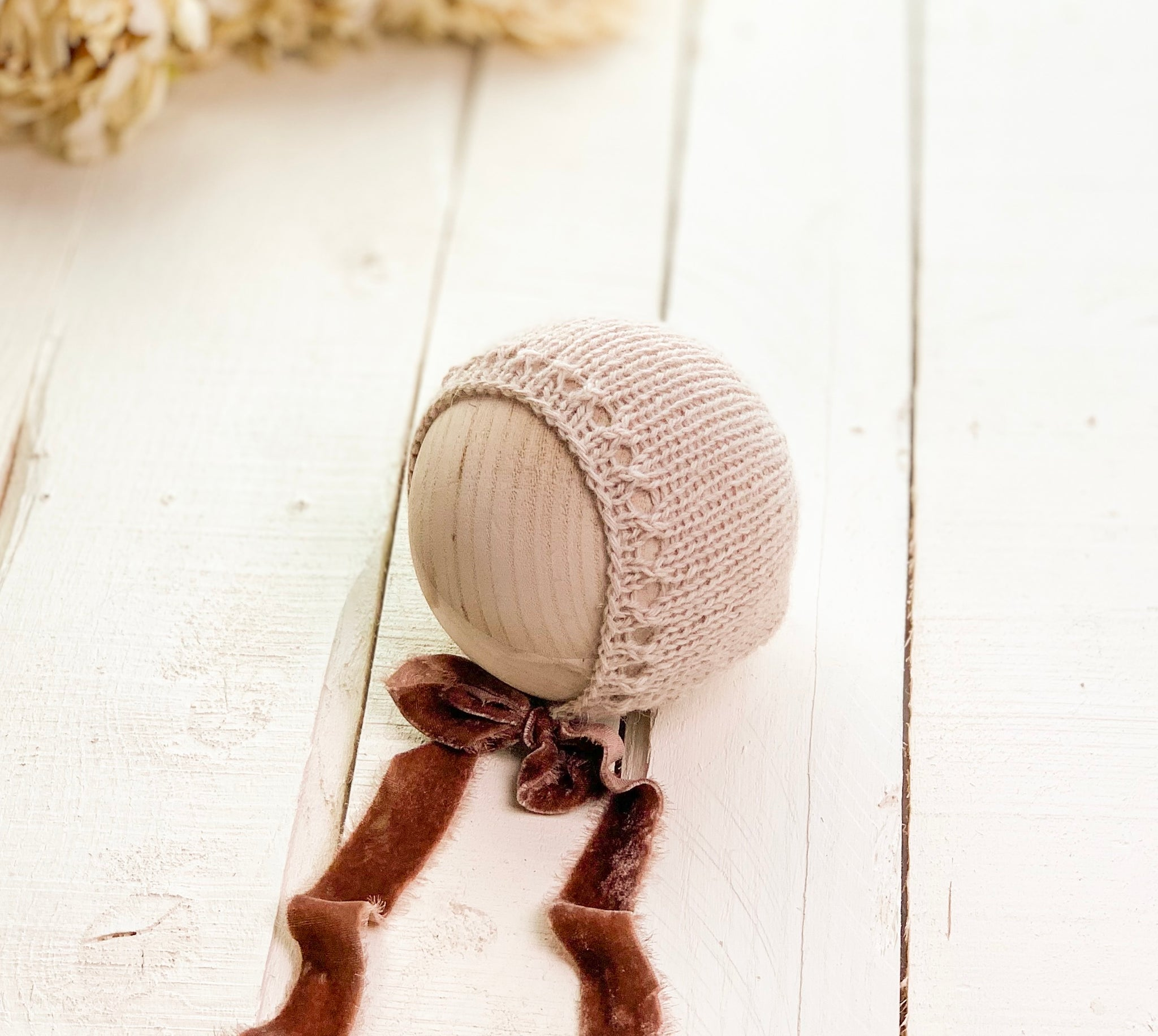 Cocoa Newborn Knit Bonnet  ~ Sale