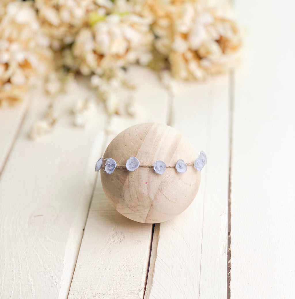 Tiny Petals Headband ~ Blue