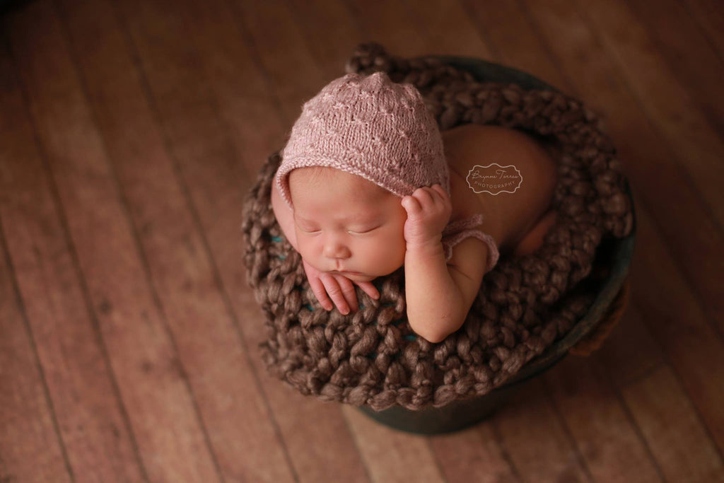 Wildflower Knit Newborn Bonnet
