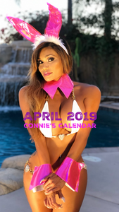 "Connie's 2019 ""Island Girl Wall calendar"" Personalized & Signed HUGE (11.5"" x 14.5"") 12 Month Collectors Wall Calendar"