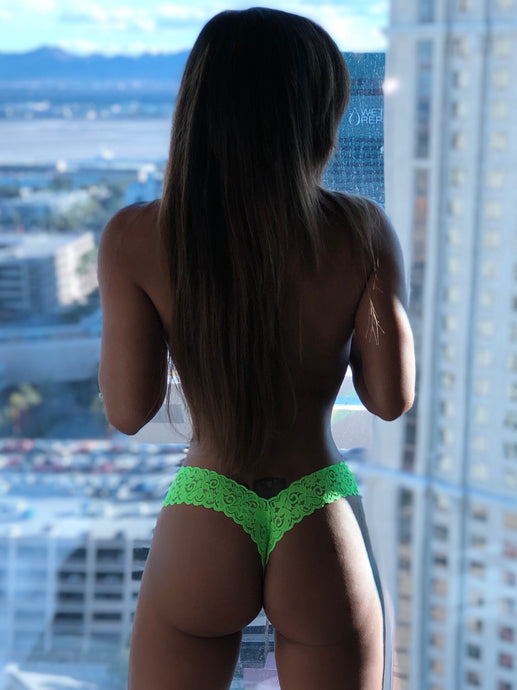 Pre-Order: Connie's VIP Island Girl 🍀🍀🍀 Shamrock Lace lingerie Thong Bottoms