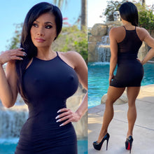 "Connie's ""BLACK 🖤🖤🖤 😈 Micro Club Mini...Super Stretch FIT Micro Min with 👀 Thru Mesh Back Accent...😍"
