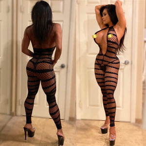 "Connie's ""Hot Island 🌴 Night's 👀 Thru Stretch Fishnet Lingerie 😻 Suit...🥂🍾"