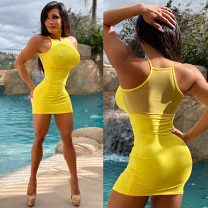 "Connie's ""🌴 Island Sun 🌞...😈 Micro Club Mini...Super Stretch FIT Micro Min with 👀 Thru Mesh Back Accent...😍"