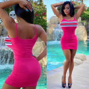 "Connie's ""All Day 🌴 🌞 Pink Ribbed 🌺🌺🌺 Mini"" Soft Spandex Super Stretch Fit...😍"