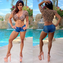 "Connie's...2 Colors...""Island 🌴 Bad 😈 Girl RAYON Spandex...Crop Top""...in 🌴Rain-forest🌴  or ❄SNOW❄...🐾🐆🐾 Leopard...YOU PICK 😘"