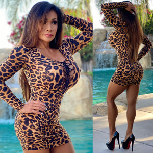 "Connie's ""Island 🌴 🔥🔥🔥 Leopard 🐆🐆🐆 VIP Club Girl Mini"" With 😈 Open Chest 👀...Made in the USA😘"