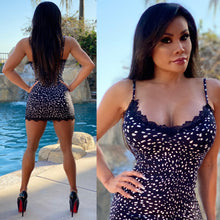 "Connie's ""All Day Island 🌴 Black Lace and White Dot Mini"" Soft Super Stretch Fit😍"