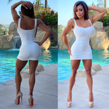 "Connie's...🌴 Island White Sand 🤍🌊🤍 ""Daily Errands V2 UPGRADE 🔥🔥🔥😻"" Super Stretchy Ribbed Tank Mini Dress...Secretly 🤫 Fully Lined🌞"