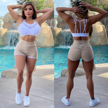 "Connie's ""Anytime Gym or Club 💪🍸 High Waist Mini Shorts"" With ruched 🍑  Made in the USA 💋💋💋"
