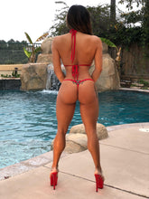 Connie's VIP Vegas Pool Party,  🔥Red Hot🔥 & Chains MICRO Thong Bikini Set