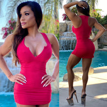 "Connie's ""Innocent 🌴 Girl, Everyday RED Kiss 💋💋💋 Mini"" Super Stretchy Ribbed Mini Dress...💋💋💋"