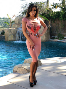 "Connie's ""VIP Island 👩‍🎤 Rock Star Off Shoulder Midi"" Rock Star Pink ...Made in The USA🥂"