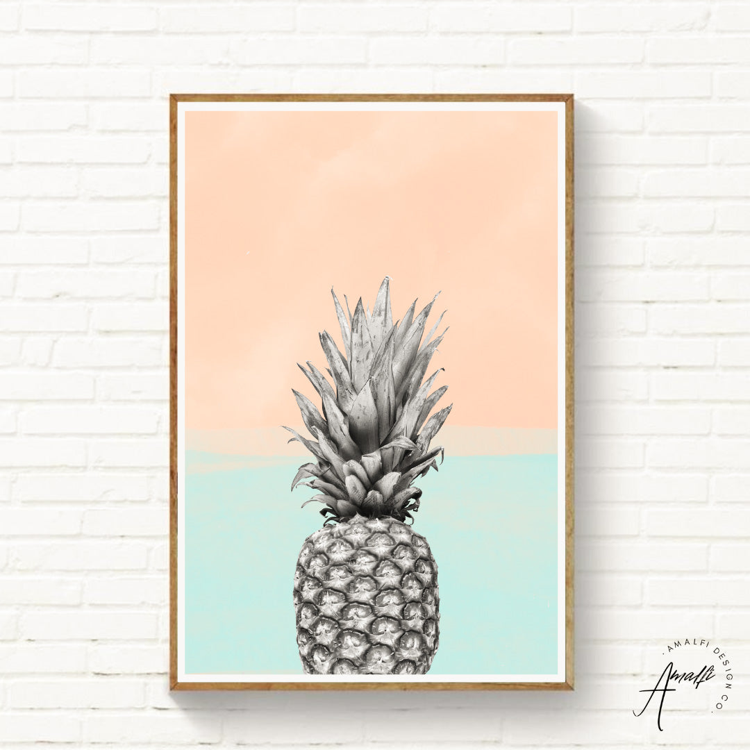 Buy PINEAPPLE SKY PRINT (BLUE)- INSTANT DOWNLOADfrom Amalfi Boutique