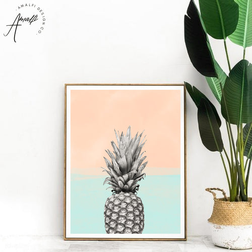 PINEAPPLE SKY PRINT (BLUE)- INSTANT DOWNLOAD